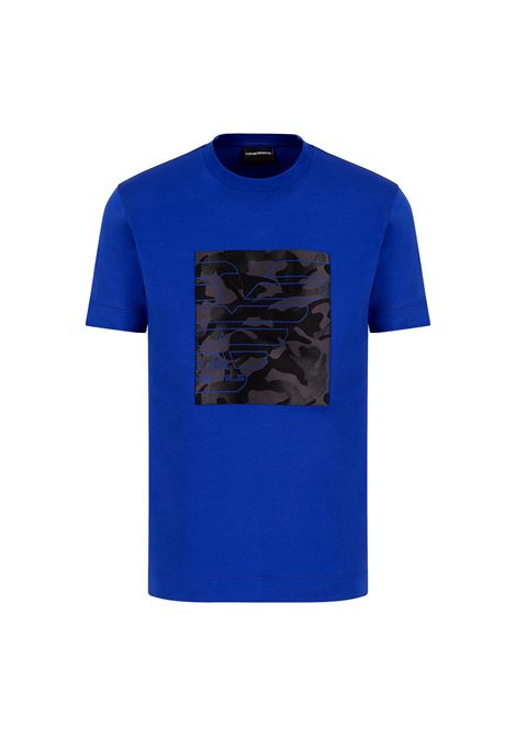 Jersey T-shirt with camouflage patch and eagle embroidery EMPORIO ARMANI |  | 3K1TM7 1JDXZ0921