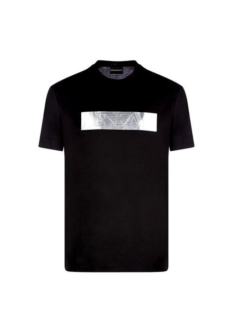 Tencel blend T-Shirt with logoed metal strip EMPORIO ARMANI |  | 3K1TQ0 1JUVZ0999