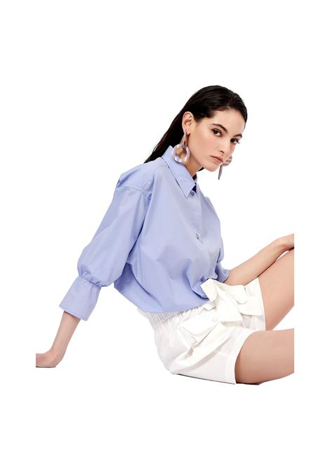 Camicia in popeline con arricciatura in vita EMPORIO ARMANI | Blusa | 3K2C68 2N0FZ0809