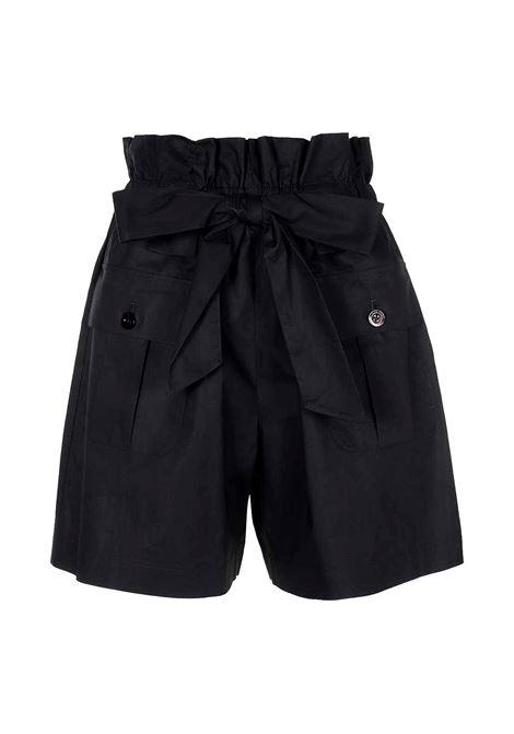 Shorts a vita alta con cintura in popeline EMPORIO ARMANI | Short | 3K2P91 2N7VZ0926