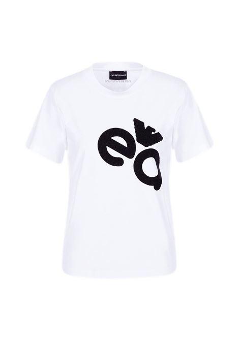 T-Shirt in jersey elasticizzato con stampa logo a caviale EMPORIO ARMANI | T-shirt | 3K2T7M 2J07Z0100