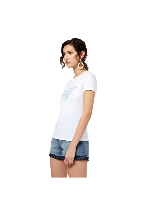 T-Shirt in jersey stretch con stampa aquila fantasia EMPORIO ARMANI | T-shirt | 3K2T7N 2J07Z0100