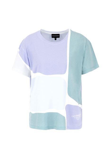 T-Shirt con stampa check acquarello EMPORIO ARMANI | T-shirt | 3K2T7W 2JREZ0809