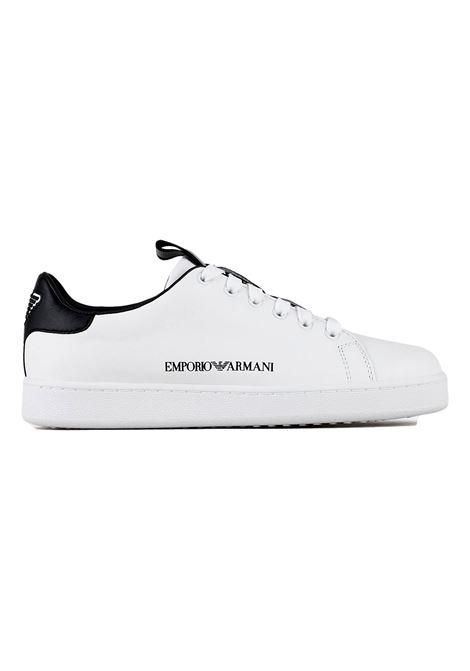 Sneakers in pelle con logo laterale EMPORIO ARMANI | Scarpe | X3X132 XM789D611