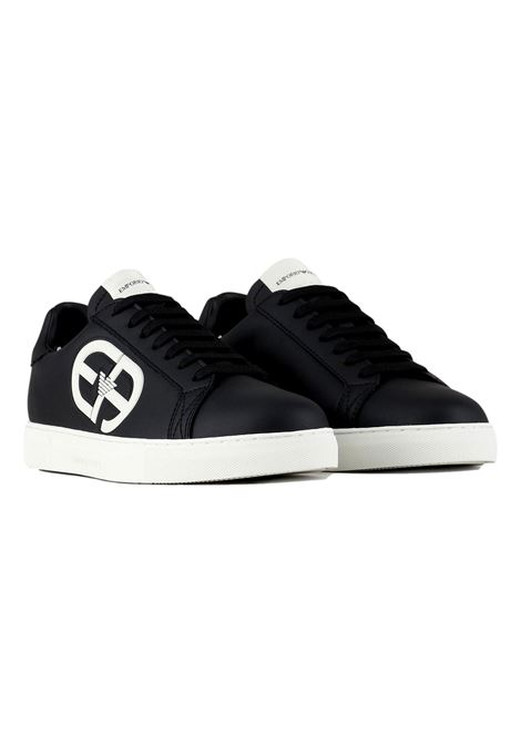 Sneakers con maxi logo EA a rilievo EMPORIO ARMANI | Scarpe | X4X540 XM782N814