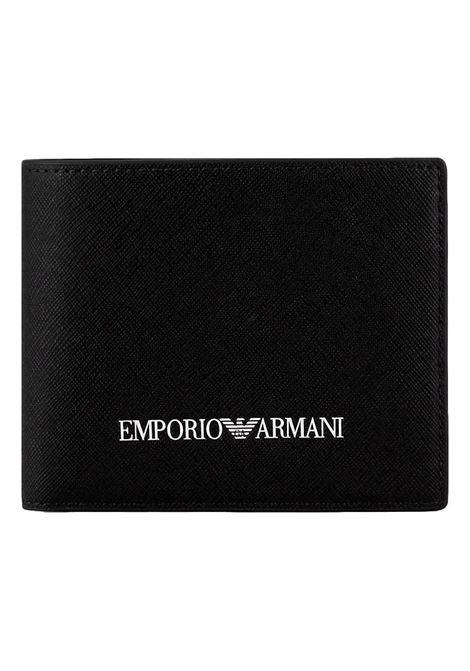 Portafoglio in pelle rigenerata stampa saffiano EMPORIO ARMANI | Portafoglio | Y4R165 Y020V81072