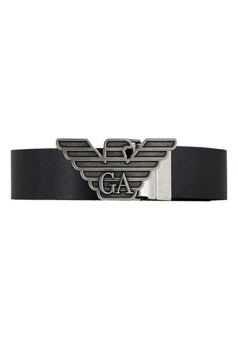 Gift box con cintura reversibile in pelle stampa saffiano e fibbia intercambiabile EMPORIO ARMANI | Set cintura | Y4S270 YLP4X88001