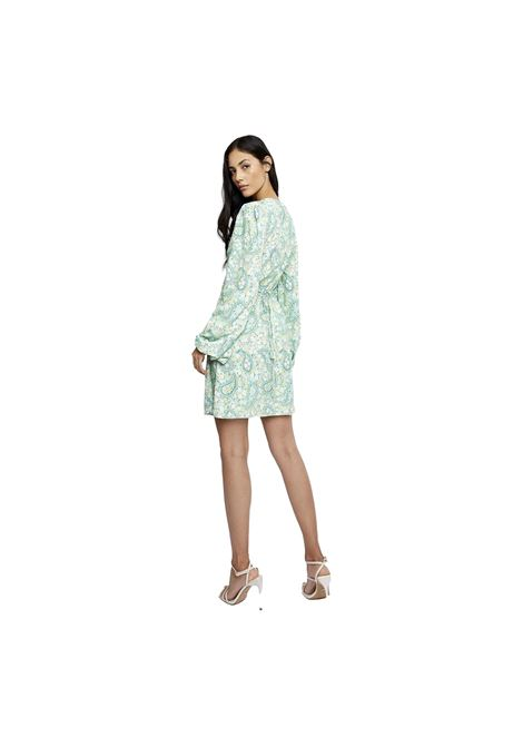 Green Paisley Wrap Dress GLAMOROUS |  | CK5508GREEN