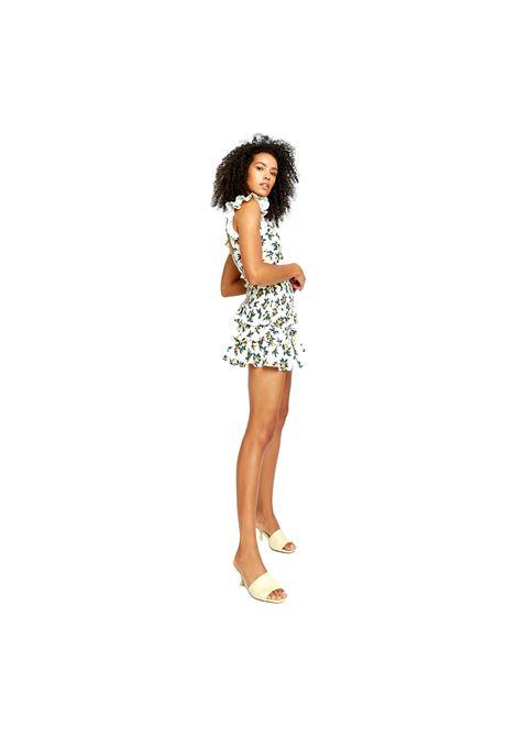 Lemon & Pear Print Frill Mini Skirt GLAMOROUS |  | CK6053LEMON