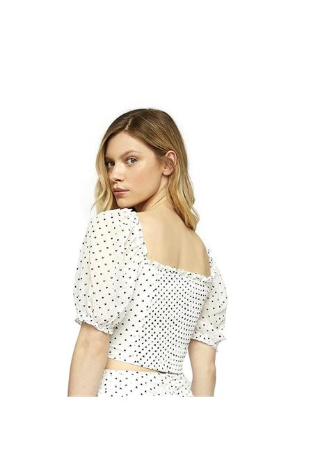 White Heart Gingham Crop Top GLAMOROUS |  | GC0373WHITE