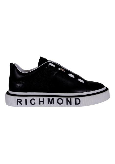 JOHN RICHMOND SNEAKERS IN PELLE NERA RICHMOND JOHN | Scarpe | 10167A