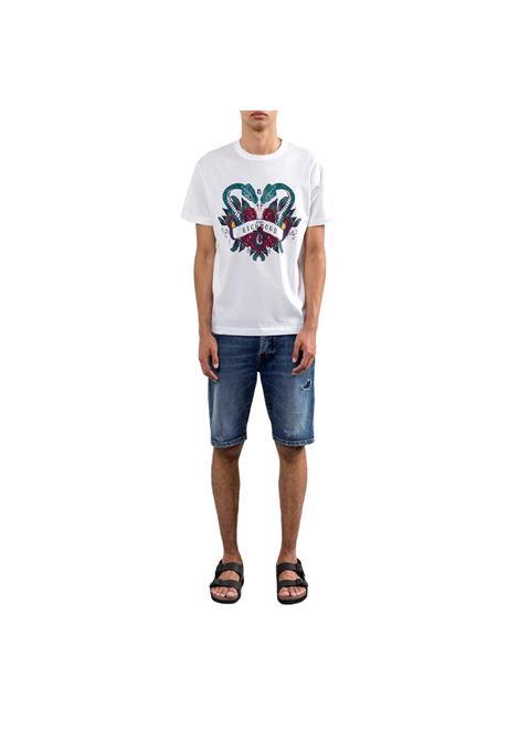 logo-print short-sleeved T-shirt winkusa RICHMOND JOHN |  | RMP21024TSA8WHITE