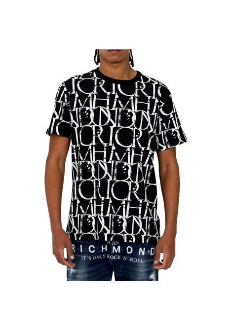 t-shirt harbori RICHMOND JOHN | T-shirt | RMP21211TSHBGR.BLK/WHT