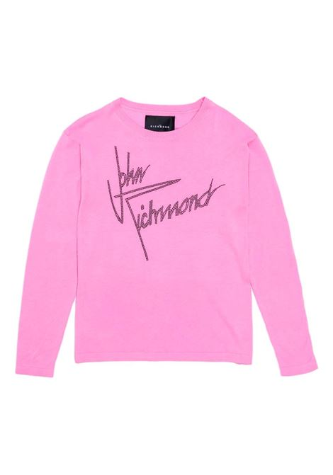 batsheda sweater with logo RICHMOND JOHN |  | RWP21155MAG6PINK
