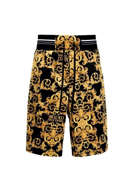 Shorts con stampa barocca con logo VERSACE JEANS COUTURE | Bermuda | A4GWA127 S0034899