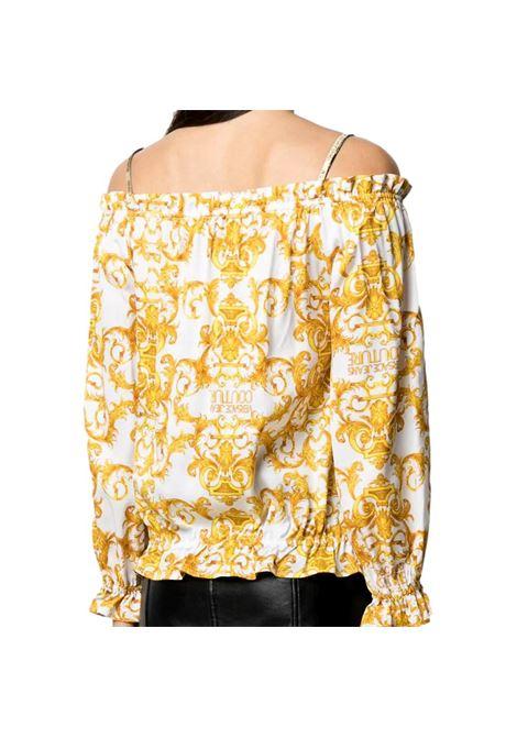 blusa con stampa barocca oro VERSACE JEANS COUTURE | Camicie | B0HWA623 S0990003