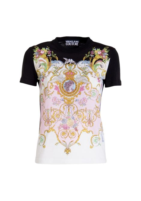 T-SHIRT STAMPA BAROCCA VERSACE JEANS COUTURE | T-shirt | B2HWA727 S0225O16