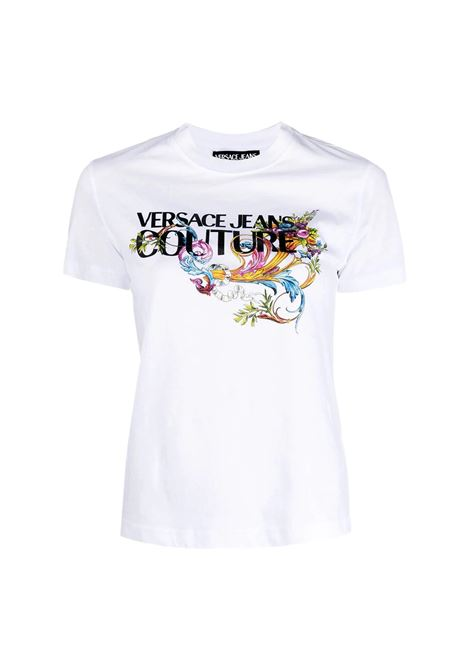 T-shirt con logo colorato VERSACE JEANS COUTURE | T-shirt | B2HWA7KA 30457003