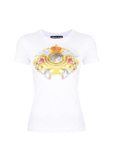 T-shirt con grafica multicolor VERSACE JEANS COUTURE | T-shirt | B2HWA7KD 30457003
