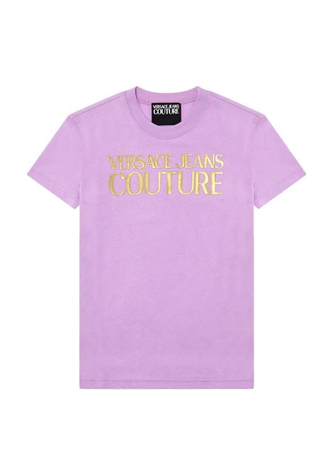 T-shirt con stampa logo oro VERSACE JEANS COUTURE | T-shirt | B2HWA7TB 30319317