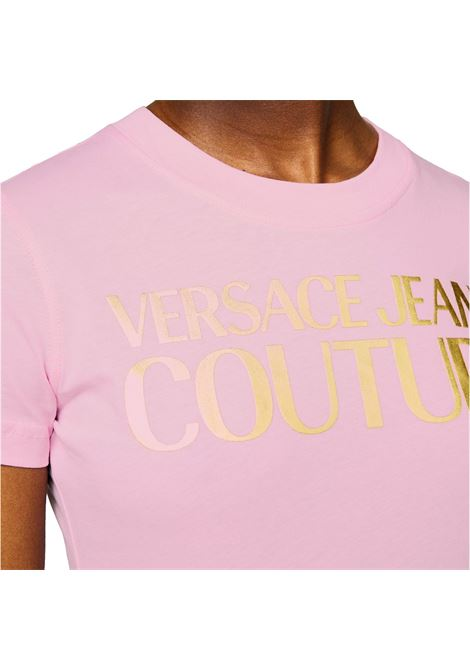 T-shirt con stampa logo oro VERSACE JEANS COUTURE | T-shirt | B2HWA7TB 30319402