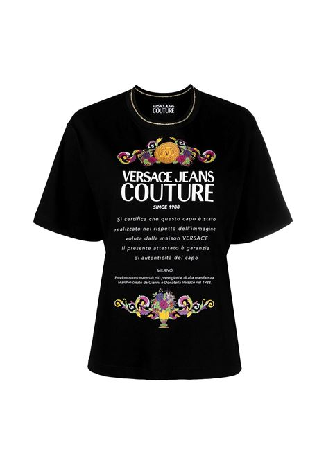 T-shirt con stampa del logo VERSACE JEANS COUTURE | T-shirt | B2HWA7TE 30319899