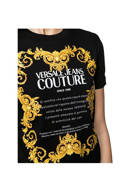 baroque gold logo print cotton T-shirt VERSACE JEANS COUTURE |  | B2HWA7TJ 30319899