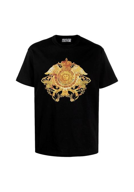T-shirt con stampa barocca e cristalli VERSACE JEANS COUTURE | T-shirt | B3GWA740 11620899