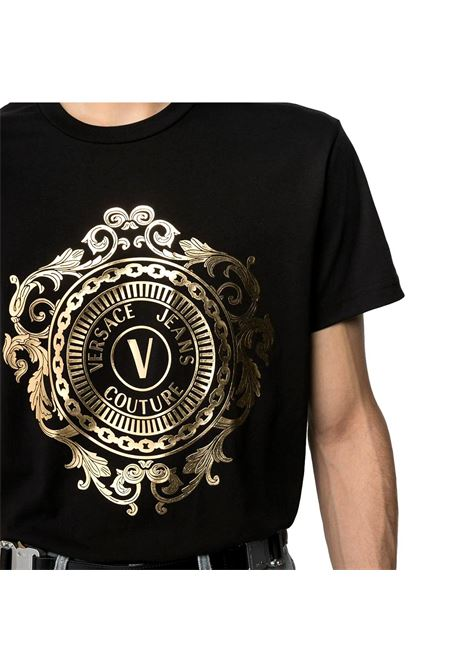 gold logo crew-neck T-shirt VERSACE JEANS COUTURE |  | B3GWA74F 30454K42