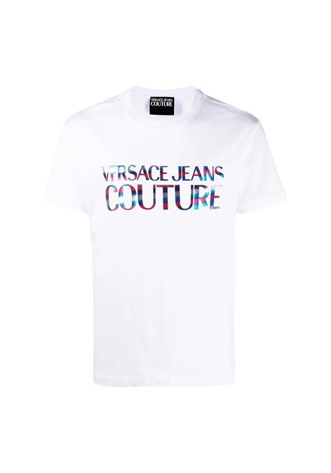 T-shirt girocollo con logo olografico catarifrangente VERSACE JEANS COUTURE | T-shirt | B3GWA7GB 30382003