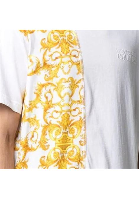 T-shirt in cotone con stampa logo Barocco VERSACE JEANS COUTURE | T-shirt | B3GWA7R1 S0155003