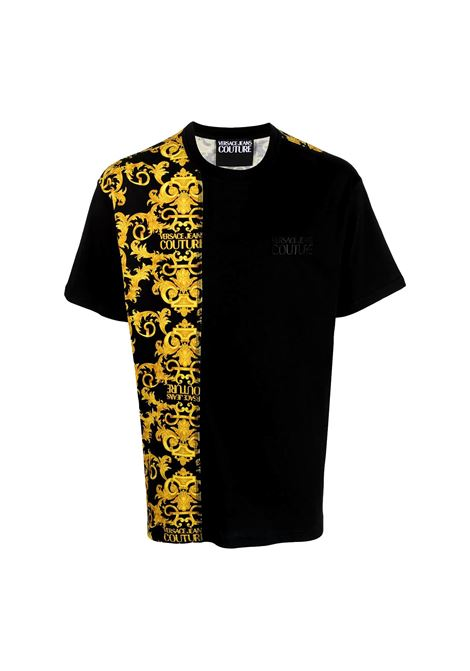 T-shirt in cotone con stampa logo Barocco VERSACE JEANS COUTURE | T-shirt | B3GWA7R1 S0155899