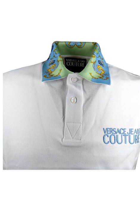 Pique polo shirt with baroque patterned contrast collar VERSACE JEANS COUTURE |  | B3GWA7T5 36571003