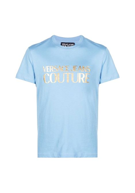 t-shirt con logo oro satinato VERSACE JEANS COUTURE | T-shirt | B3GWA7TB 30319216