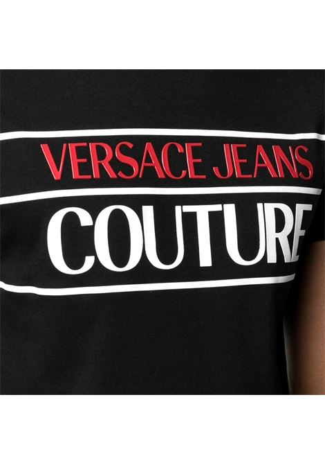 T-shirt in cotone con stampa logo VERSACE JEANS COUTURE | T-shirt | B3GWA7TC 30319899