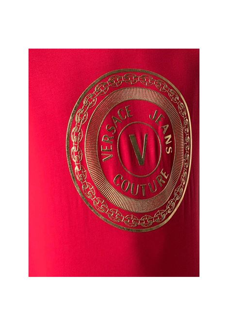T-shirt a maniche corte con stampa logo VERSACE JEANS COUTURE | T-shirt | B3GWA7TE 30319O19