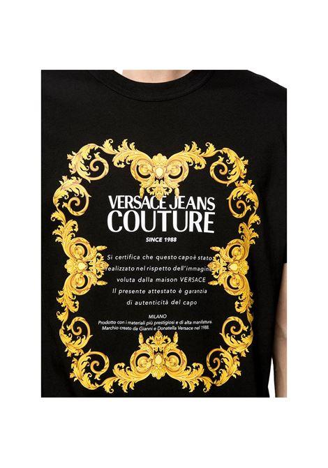 T-shirt a maniche corte con stampa logo VERSACE JEANS COUTURE | T-shirt | B3GWA7TJ 30319K42