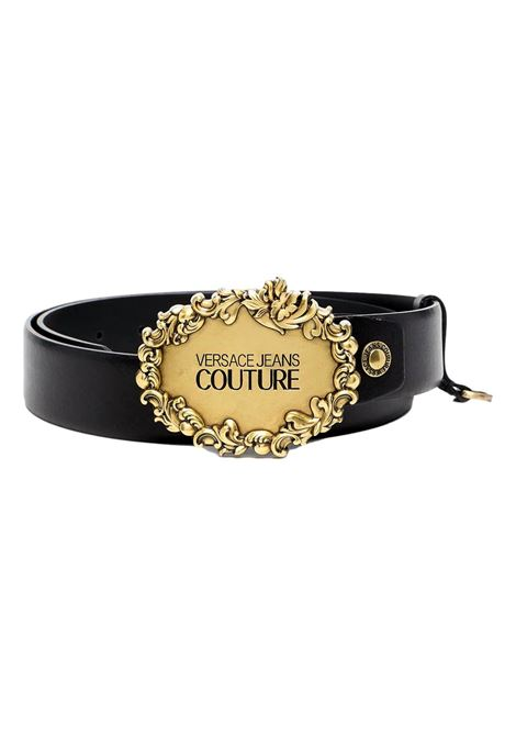 engraved logo buckle leather belt VERSACE JEANS COUTURE | Cintura | D8YWAF05 72011899