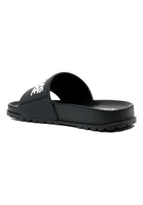 sandalo nero con logo a contrasto VERSACE JEANS COUTURE | Scarpe | E0VWASQ2 71353899