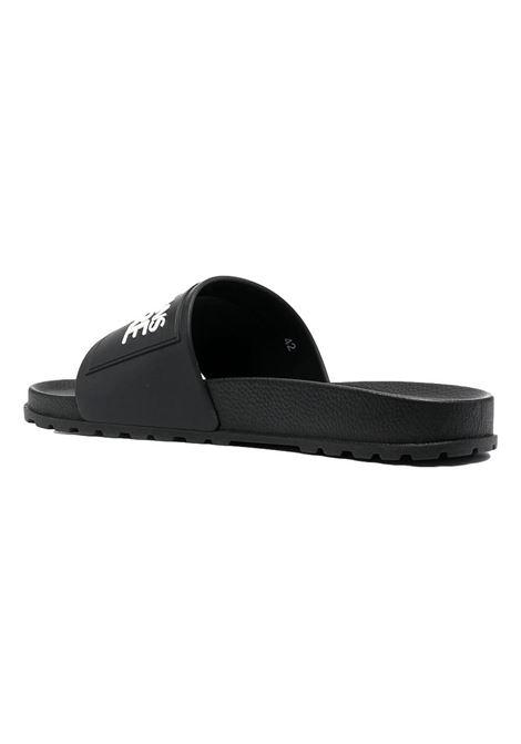 sandalo nero con logo a contrasto VERSACE JEANS COUTURE | Scarpe | E0YWASQ2 71353899