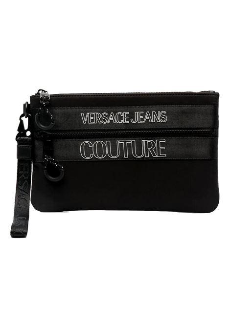 borsa pochette nera con logo VERSACE JEANS COUTURE | Borsa | E3YWAPA2 71895899