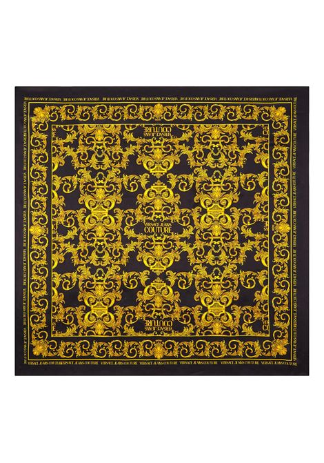 MEDIUM SILK SCARF WITH BAROQUE LOGO PRINT VERSACE JEANS COUTURE |  | E4HWAH02 80154M27