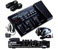 Boss ME25 Guitar MultiEffects Pedal with AC Power Supply Samson HP10 Headphones and (2) Sonic Sense Instrument Cables