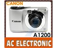 Canon Cannon Powershot A1200 12.1mp 4x Zoom Camera Silver4gifts1 Year Warranty Logo