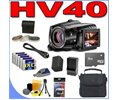 Canon VIXIA HV40 HD HDV Camcorder w/ 10x Optical Zoom BigVALUEInc Accessory Saver 8GB Battery Filter... Logo