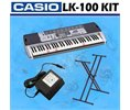 Casio LK100 Lighted Keyboard With LCD Display & Power Supply and Keyboard Stand Logo