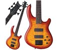 Dean Guitars Dean Edge Quilt 5 String Bass Trans