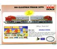 Diesel Ho Trains Double  Train Santa Fe Set 1061