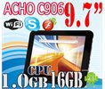 "Dual Acho C906 9.7"" Ips Capacitive Android 4.0 Camera 1gb 16gb Tablet Pc Logo"