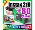 Fuji Instax 210 Wide Polaroid Camera 80 Films Pen Logo